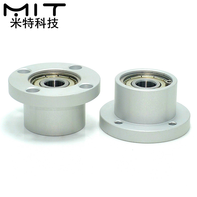 Bearings with Housings Flange Round Bearings Housing Double Bearings positioning embedded type Diameter 50mm