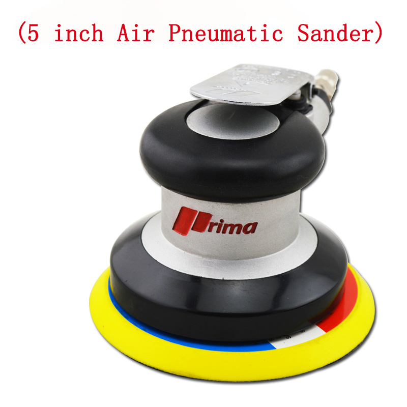 1pc/lot  5 inch Air Pneumatic Sander Self Vacuum 10000RPM Pad polisher/polishing/grinding machine sanding swingable pneumatic eccentric grinding machine 125mm pneumatic sander 5 inch disc type pneumatic polishing machine