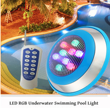 15W 18W 24W LED RGB Underwater Swimming Pool Light Multi-Color 12V 24V RGB+Remote Controller Fountain Light Outdoor Waterproof 24w swimming pool light waterfall fountain led color waterproof ip68 12v wall hanging underwater light rgb led landscape lamp