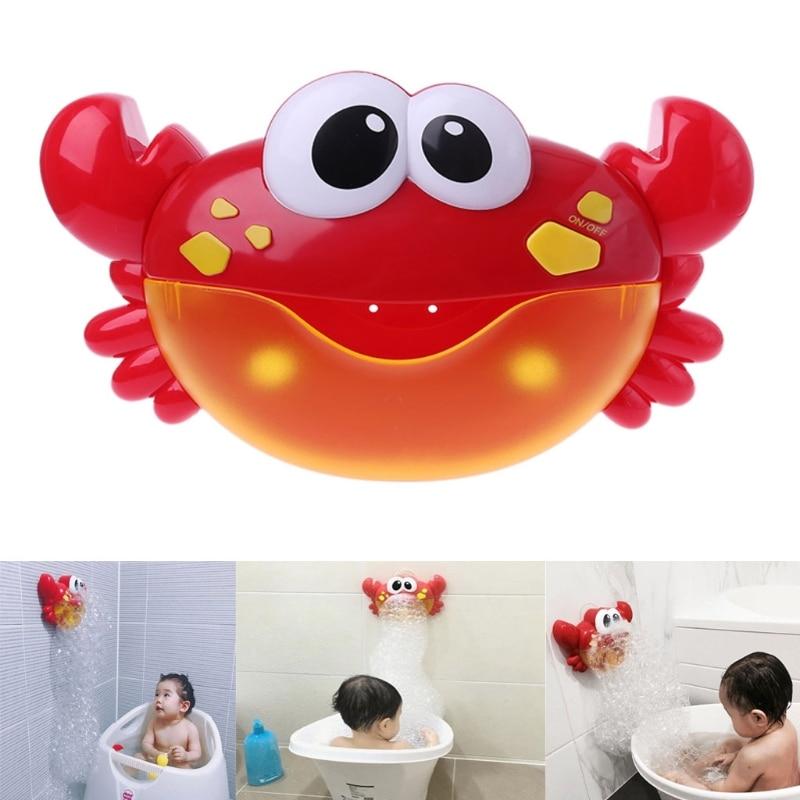 1PC Kids Toys Crab Bubble Machine Bathroom Cartoon Animal Bu