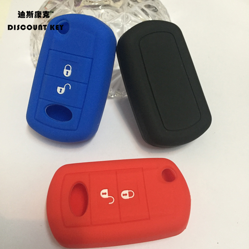 Silicone car key cover for Rover LR3 Discovery For Land Rover Range Rover Sport Key Case Cover Holder 2 button car key stikcer