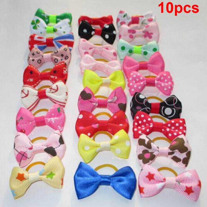HTB1W.aDFDlYBeNjSszcxh6whFXa5 - 10PCS Bowknot Cute Dog Rubber Band Handmade Pet Grooming Accessories