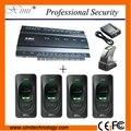 Inbio460 sistema de sensor de huellas dactilares lector de huellas digitales de control de acceso de cuatro puertas del panel de control de acceso