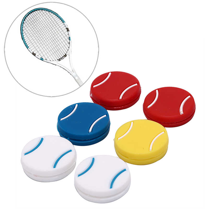 1PC Tennis Racket Damper Shock Absorber To Reduce Tennis Racquet Vibration Dampeners Raqueta Tenis Pro Staff Bracelet Randomly