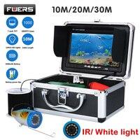 Fuers 7 TFT Цвет монитор подводный 30 м Рыболокаторы 1000TVL HD белый свет/IR Ocean подледной рыбалки Камера С Мощность дисплей