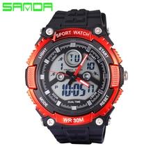 New SANDA Top Brand Men Dual Display Watch LED Sports Military Watches Analog Quartz Digital