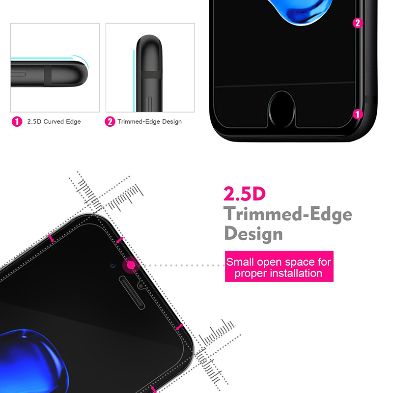 Suntaiho 2.5D Ultra-thin 0.2mm Screen Protector for iPhone 7 Plus Glass tempered Screen Protector Film for iPhone 6 6s 9H Glass