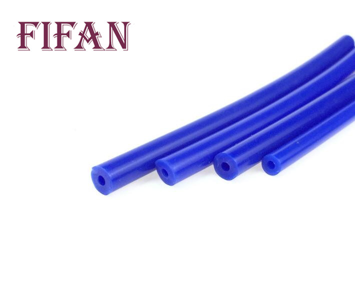 FIFAN NEW Universal 1 Meter 3mm/4mm/6mm/8mm Silicone Vacuum Tube Hose Silicon Tubing Blue Red Yellow Car Accessories image