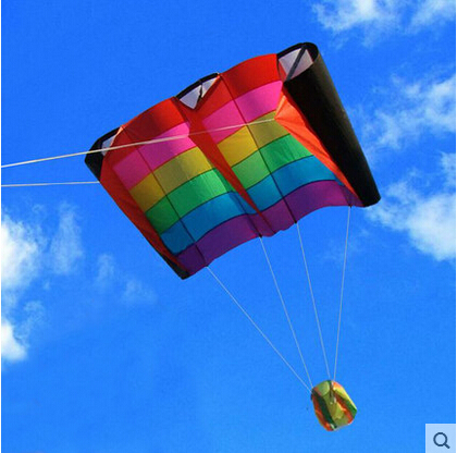 Outdoor Fun Sports Rainbow Colorful Birds Wing Weifang Kite Flying Umbrella Cloth Easily The Most Beautiful