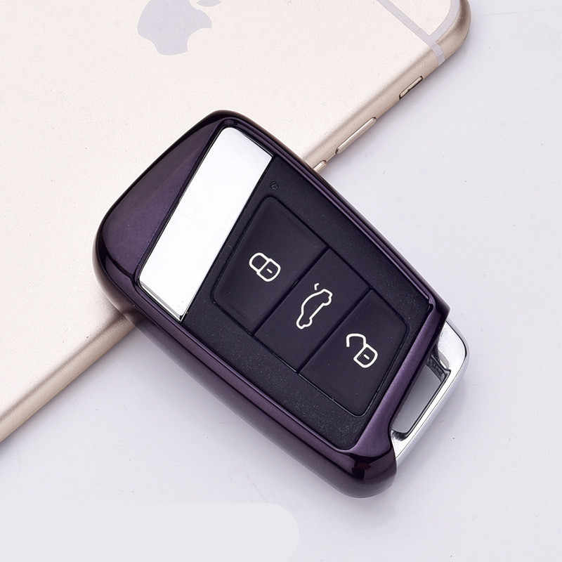 Soft TPU Protection Car Key Case Auto Remote Key Cover Shell For Volkswagen VW 2016 2017 Passat B8 Skoda Superb A7 Car Accessori