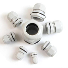 10 шт. Высокое качество IP68 PG7 3-6,5 мм водонепроницаемый нейлоновый кабельный ввод без водонепроницаемой прокладки пластиковый кабельный ввод PG9 PG11 PG13.5 PG16
