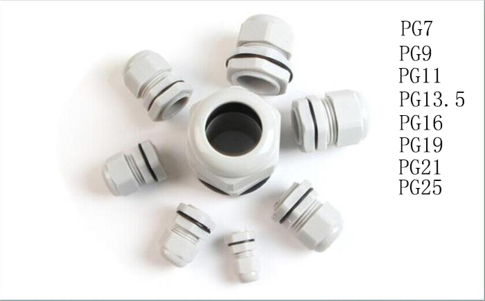 10PCS High Quality IP68 PG7 3-6.5MM Waterproof Nylon Cable Gland No Waterproof Gasket Plastic Cable Gland PG9 PG11 PG13.5 PG16 цена