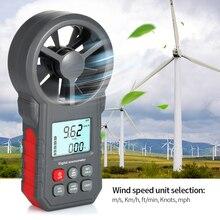 ЖК-цифровой анемометр, измеритель скорости ветра, датчик скорости ветра/скорость воздуха/температура воздуха, инструмент для тестирования скорости ветра с фонариком