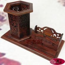 Красное дерево Деревянные Ремесла [правительства] Розовое Перо Набор дома случае визитная карточка Подарок Украшения