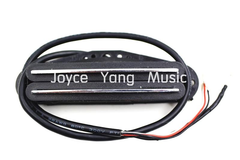 Niko White/Black/Silver Dual Hot Rail Single Coil Pickup 4 Wire For Fender Strat/SQ Electric Guitar Pickups niko 50pcs chrome single coil pickup screws