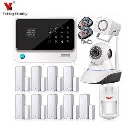 YobangSecurity bezprzewodowy GSM System alarmowy do domu IOS Android APP drzwi czujnik magnetyczny G90B WiFi GPRS GSM System alarmowy w Zestawy systemów alarmowych od Bezpieczeństwo i ochrona na
