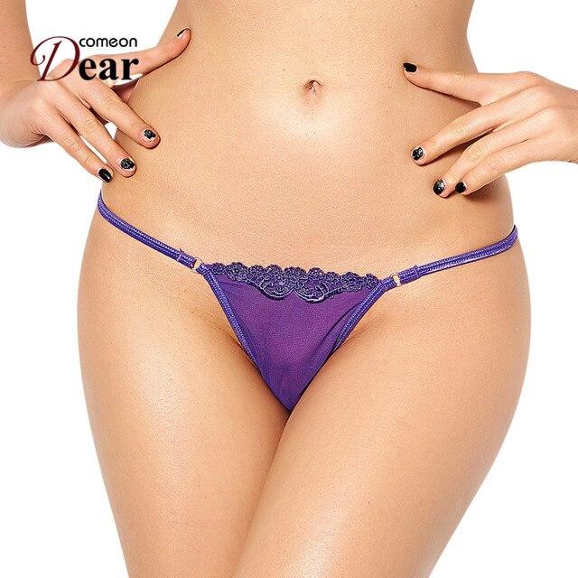 Comeondear Sexy Panties Xl See Through Micro Mini Women Thongs And G Strings Super