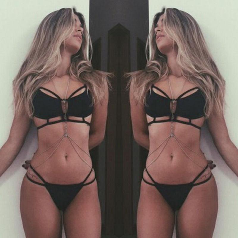 UK Womens Padded Push-up Bikini Set Swimsuit Bathing Suit Swimwear Beachwear