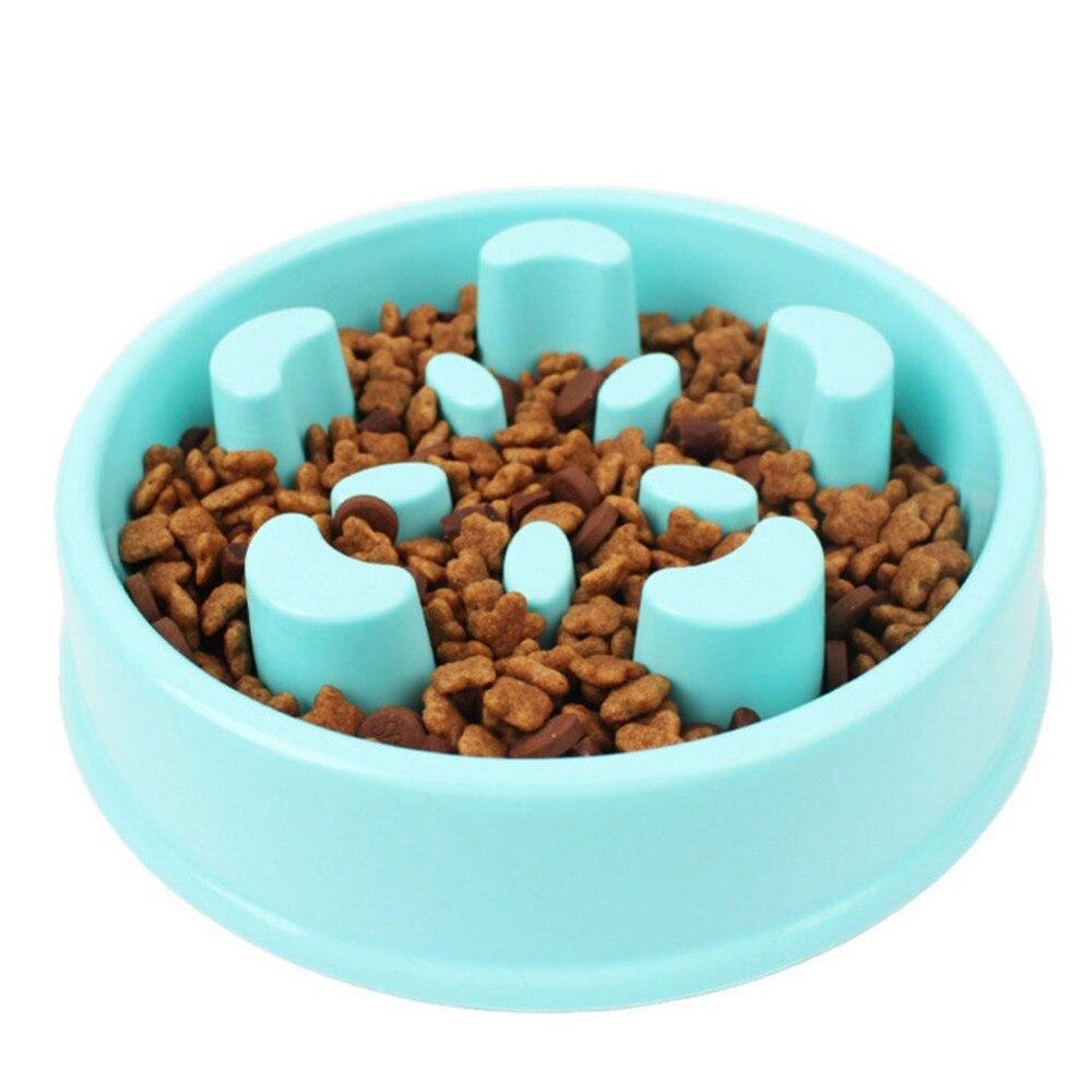 Pet Dog Slow Eating Training Bowl For Puppy Kitten Plastic Food Feeding Bowl Pet Avoid Choke Feeder Pet Dog Training Bowls