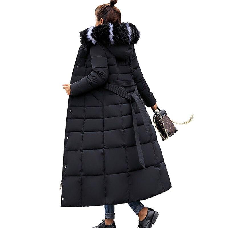 Mujer Et D hiver Windprood Épais No long Femmes Parka Plus La Fur Des À ... 3c00587c045