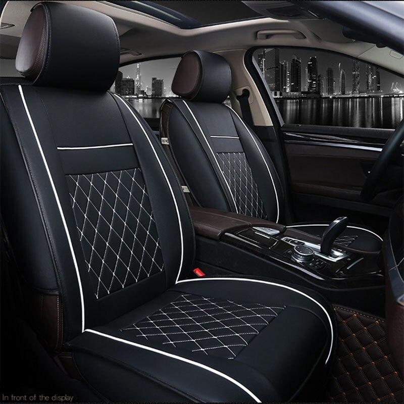 Pu de Couro Do Assento de Carro Universal Abrange Quatro Temporadas Almofada Auto Serve Para todo o Padrão de Assentos de Carro