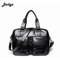 Promotional Casual Business Man Bags Famous Brand Classic Design Leather Mens Messenger Bags Shoulder Bag Briefcase