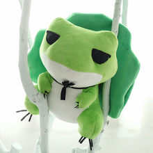 2018 New Game Travel Frog Plush Toys Cute Cartoon Frogs With Hat Soft Animal Stuffed Dolls Kids Friends Gift 20/25/30/40/50cm(China)
