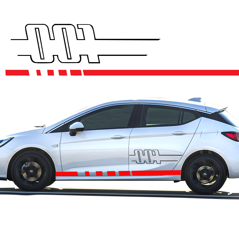 Competent Automobile For Opel Astra Sides 001 Mk6 Side Decals Vinyl Graphics Stickers Car Styling Da-0058t In Many Styles Exterior Accessories