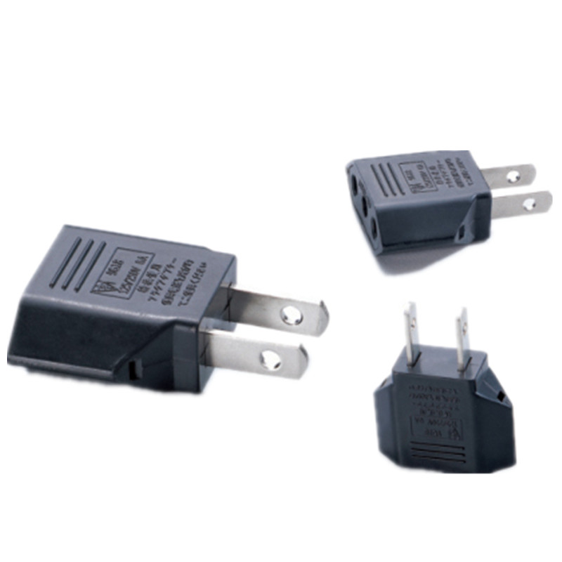 100pcs european eu to us japan plug adapter american china. Black Bedroom Furniture Sets. Home Design Ideas