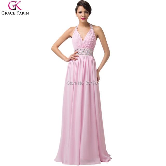 Chiffon jurk lang