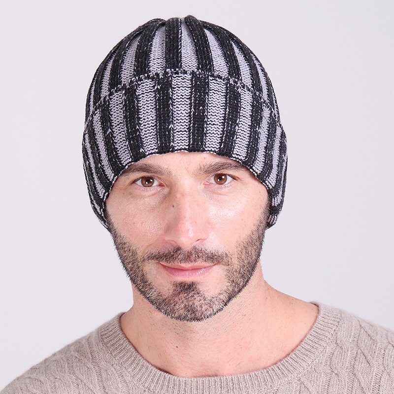 Winter Hats For Men Beanies For Men Fashion Casual Striped Sport Beanies Men  Hats 2015 Brand Winter Hats For Men JYM1502-in Skullies   Beanies from  Apparel ... 1e289e8d04f