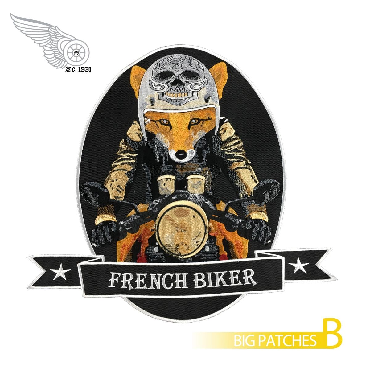 Fils de faucheur crâne gris patchs brodés pour taille arrière complète des vestes moto motard Patch 30 cm de haut livraison gratuite