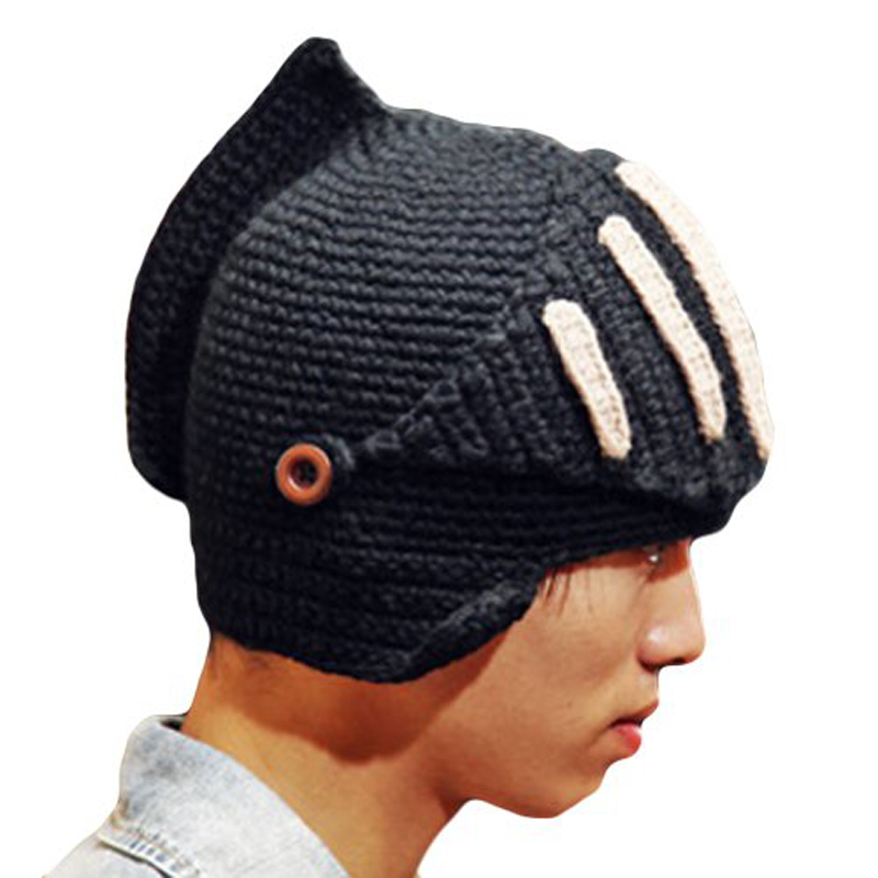 Mens Funny Beanie Hats For Women Winter  Cosplay Knit Hat Windproof Face Mask Cap Balaklava Gorro Chapeu Skullcap Knight net mesh face protector cap insect bee mosquito resistance cap winter hat bone beanie hats for women winter hats for women pokem
