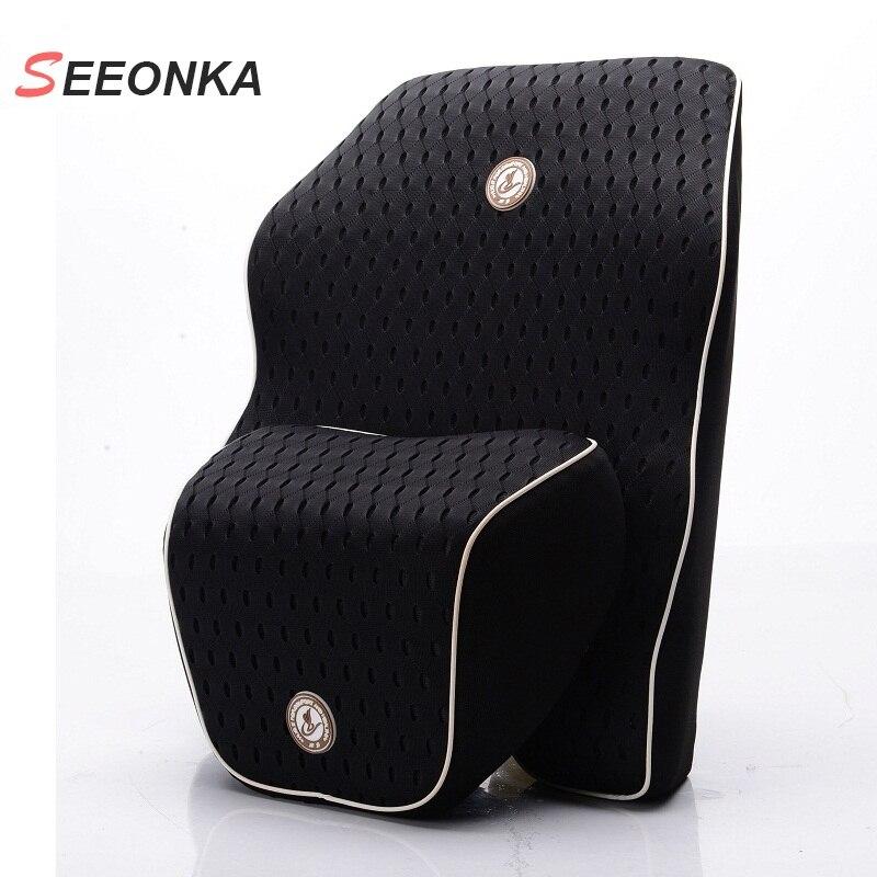 Newest 3D Mesh Car Seat Lumbar Support Cushion Space Slow rebound Memory Cotton Waist Back Lumbar