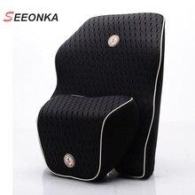 Newest 3D Mesh Car Seat Lumbar Support Cushion Space Slow rebound Memory Cotton Waist Back Lumbar Supports Headrest Pillow