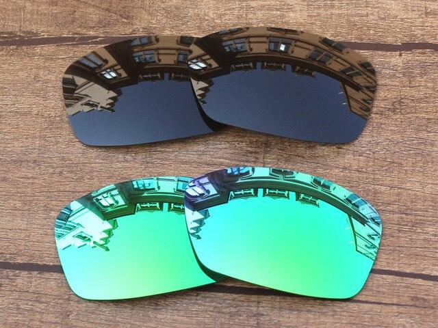 e31d9c97134c13 Noir Gris et Vert Émeraude 2 Paires Polarisées verres de Remplacement Pour  Hijinx lunettes de Soleil