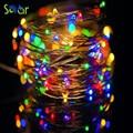 USB Operado 10 Metros 100led Luces Decorativas Para Bodas de Navidad LED Luces de Hadas de la Secuencia del Alambre de Cobre lámpara de la decoración