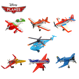 Original Disney Pixar Cars 3 Planes 2 No.7 Dusty Strut Jetstream 1:55 Metal Alloy Diecast Model Plane Toy For Boy Christmas Gift