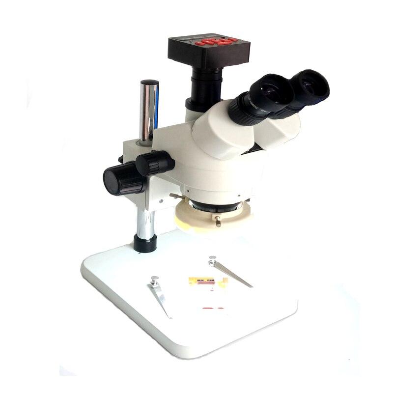 1080 p 60FP 21MP 3.5X-90X HDMI Saldatura Zoom Industrial Video Macchina Fotografica del Microscopio C Mount Lens Trinoculare Stereo PCB strumento di riparazione