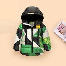 Winter Children Stitching Hooded Parkas 2016 Hot Fashion New Thick Kids Boys Girls Down Jacket&coat,roupas Infant Menina Outwear