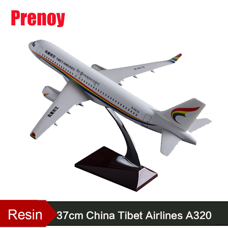 37cm A320 Airbus Tibet Airways Airplane Model Resin Aircraft Tibet Plane Aviation Model A320 Plane Airways Model Toys Collection pre sale phoenix 11228 tibet airlines b 1682 1 400 a320 w commercial jetliners plane model hobby