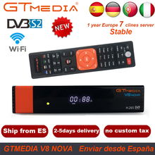 GTMedia V8 Nova DVB-S2 Full HD 1080P Satellite TV Receiver Built-in WiFi Support Ccamd Cline H.265 Youtube PowerVu Biss Decoder dvb s2 1080p hd v8 nove satellite tv receiver with 1 year cccam clines iks full hd h 265 freesat v8 nove sat decoder youtube