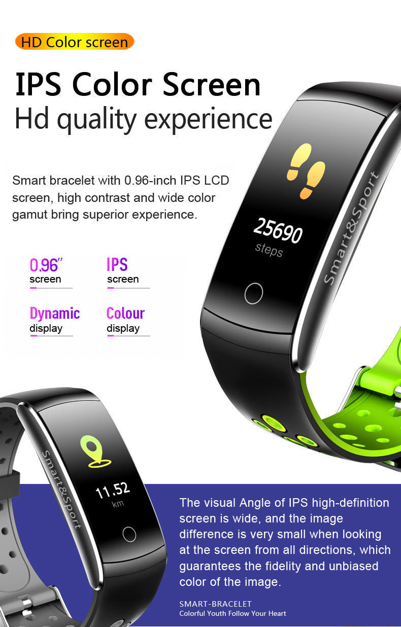 Watches Ogeda 2019 F1 Smart Watch Intelligent Band Fitness Tracker Waterproof Bracelet Blood Oxygen Blood Pressure Heart Rate Monitor Refreshment