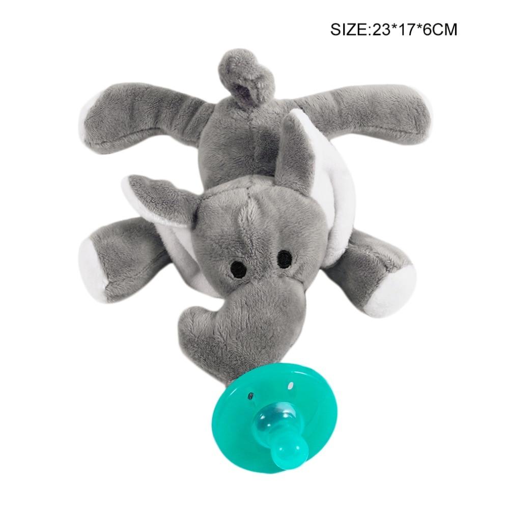 Милая Детская плюшевая игрушка, соска для новорожденных мальчиков и девочек, мультяшная Соска-пустышка Силиконовая пустышка, соска, аксессуары для кормления - Цвет: grey