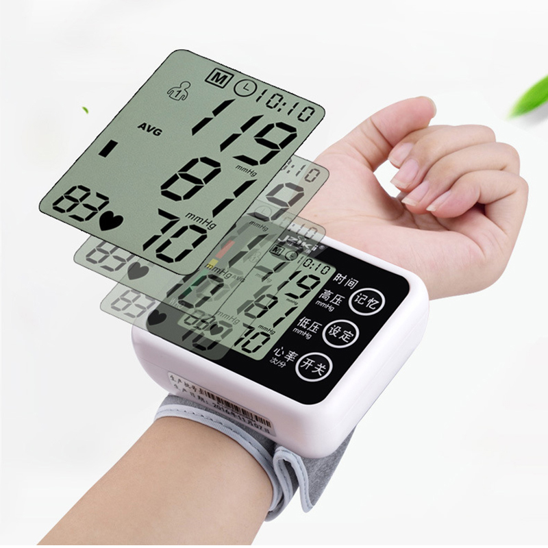 USB Rechargeable Digital Lcd Upper Arm Blood Pressure Monitor Heart Beat Meter Machine Tonometer for Measuring Automatic portable lcd digital manometer pressure gauge ht 1895 psi air pressure meter protective bag manometro pressure meter