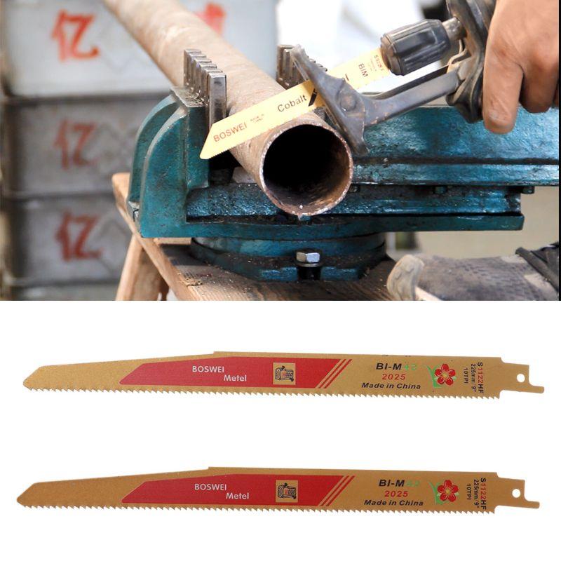 2Pcs/Set Gold Reciprocating Sabre Saw Blades For Cutting Metal Professional S1122HF Blade Tools