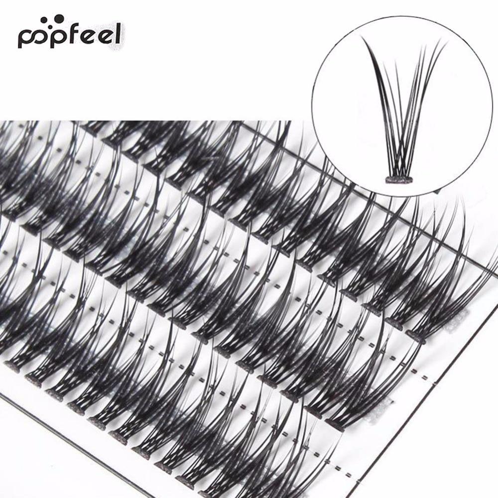 3D Thick Long Crossing Grafting Individual Natural False Eyelashes Eye Lashes Extension Makeup Beauty Extension Tools
