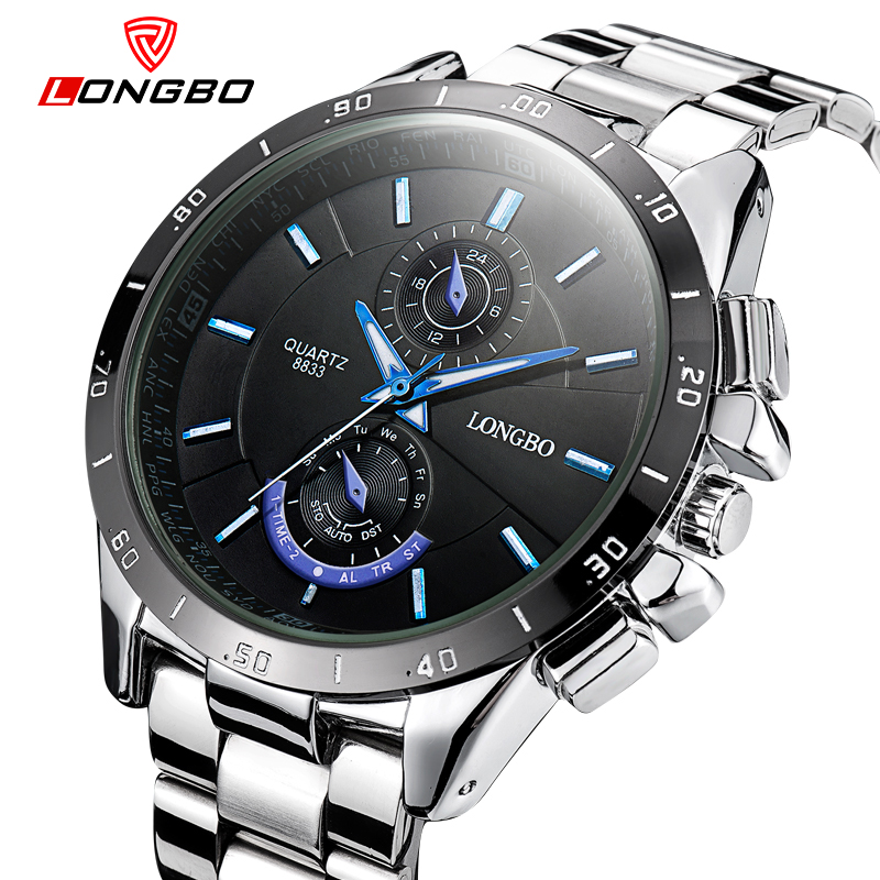 2016 New Busienss Style font b Mens b font Watches Top Brand Luxury LONGBO Full Stainless