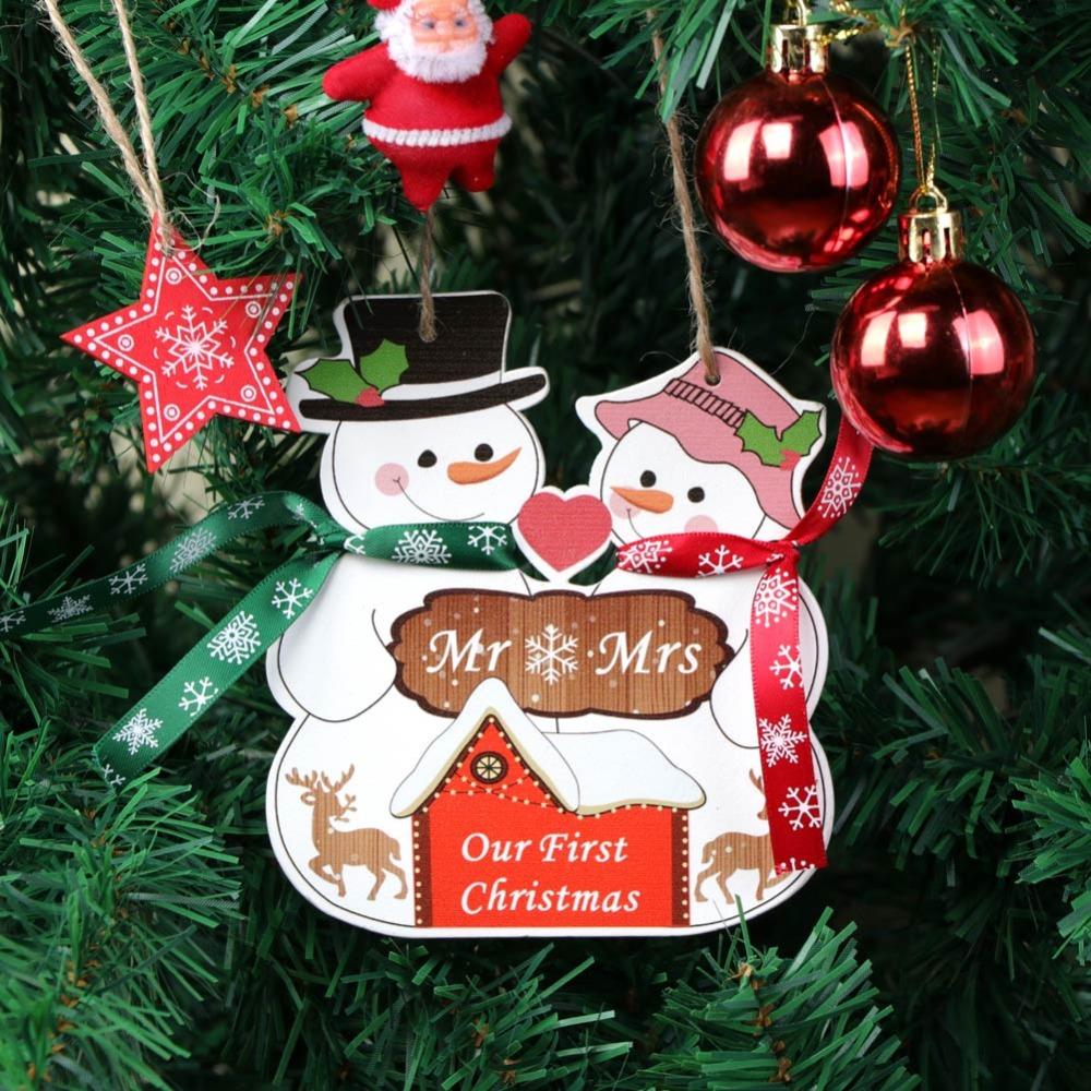 Personalised Christmas Tree Ornament Decoration Pink Snowman Bell