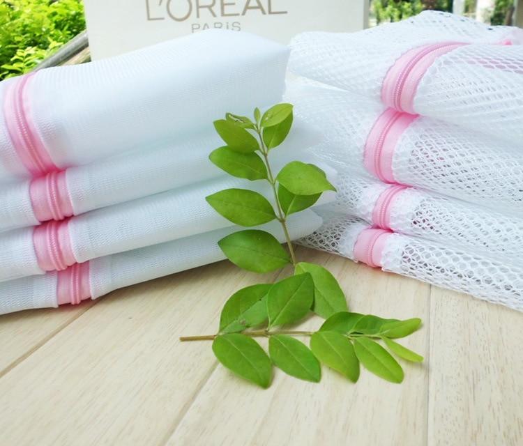 nylon mesh bag Laundry Bag Protective Bag Laundry Net Bag Receiving Bag White  Family Receiving Net Washing Machine Accessories